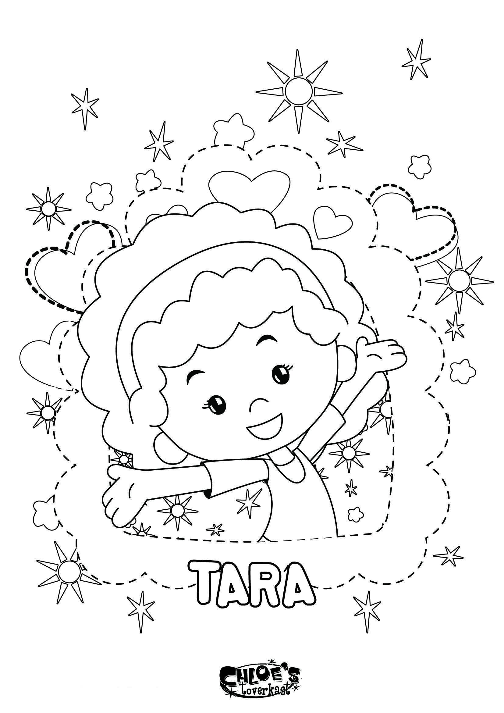 Een Kleurplaat Van Tara Uit Chloe S Toverkast Leuk Voor Kids