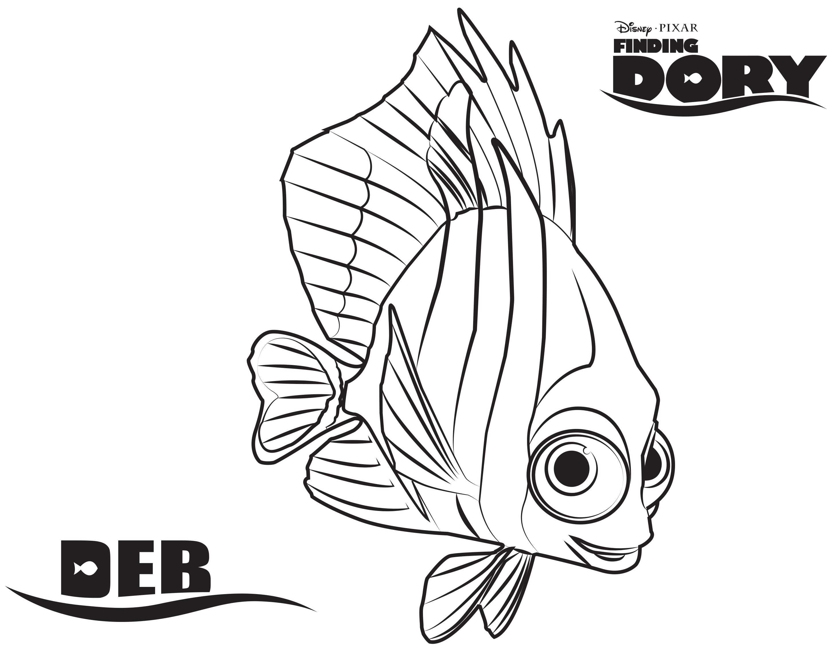 Printen Finding Nemo Coloring Pages Nemo Coloring Pages