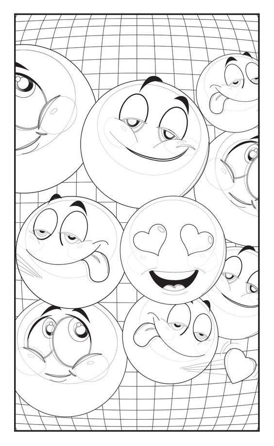 Emoji Love Coloring Book 30 Cute Fun Pages For Adults Teens And