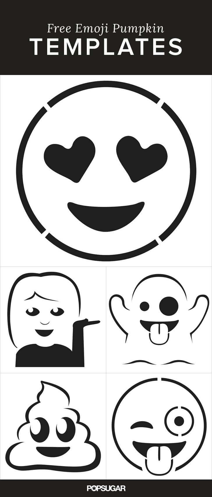 11 Emoji Pumpkin Templates That Ll Make Carving So Much Fun