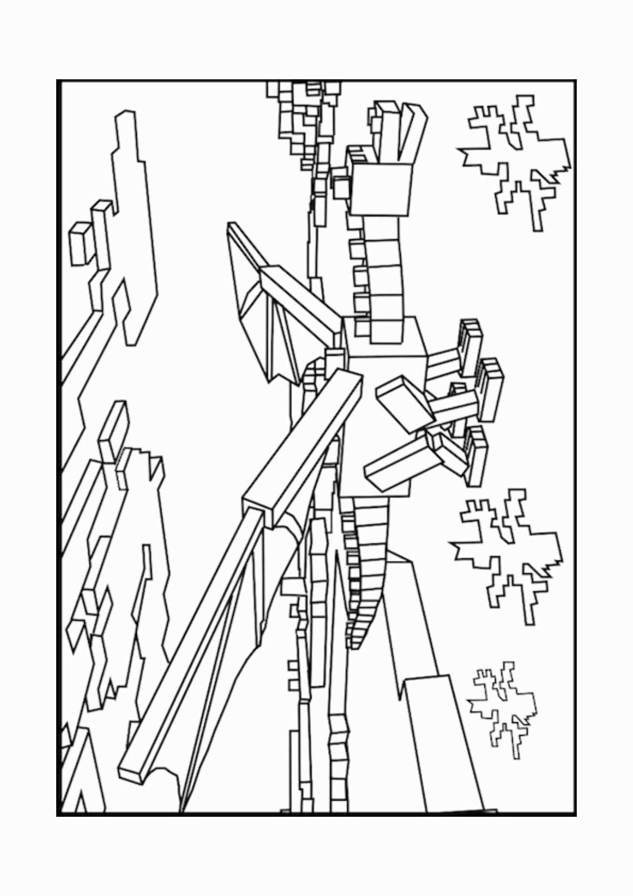 Ender Dragon Coloring Page Luxury 12 Minecraft Lineart Ender