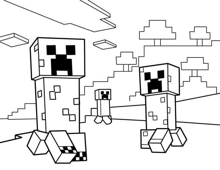 Minecraft Coloring Pages Fargelegging Kunst Og Handverk Creepers