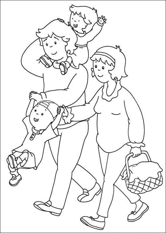 Kleurplaat Gezin Kleurplaten Familie Thema Mijn Familie
