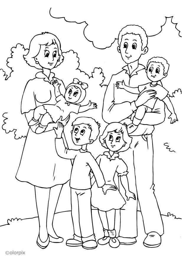 Thema Familie Kleurplaat Kleurplaten Knutselen Familie Mijn