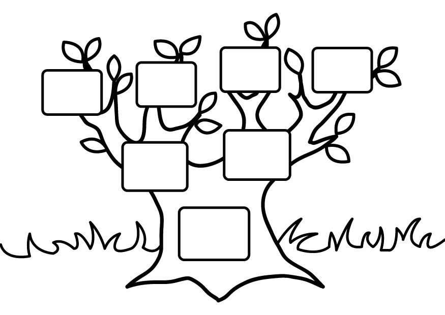 Family Tree Coloring Page Great To Use As A Reminiscing Activity