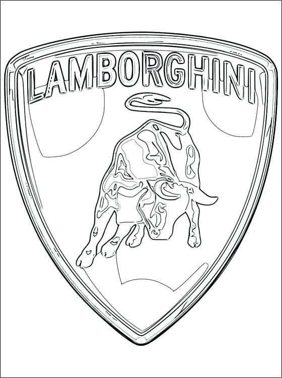 Lamborghini Kleurplaat Logo Lamborghini Kleurplaaten Coloring