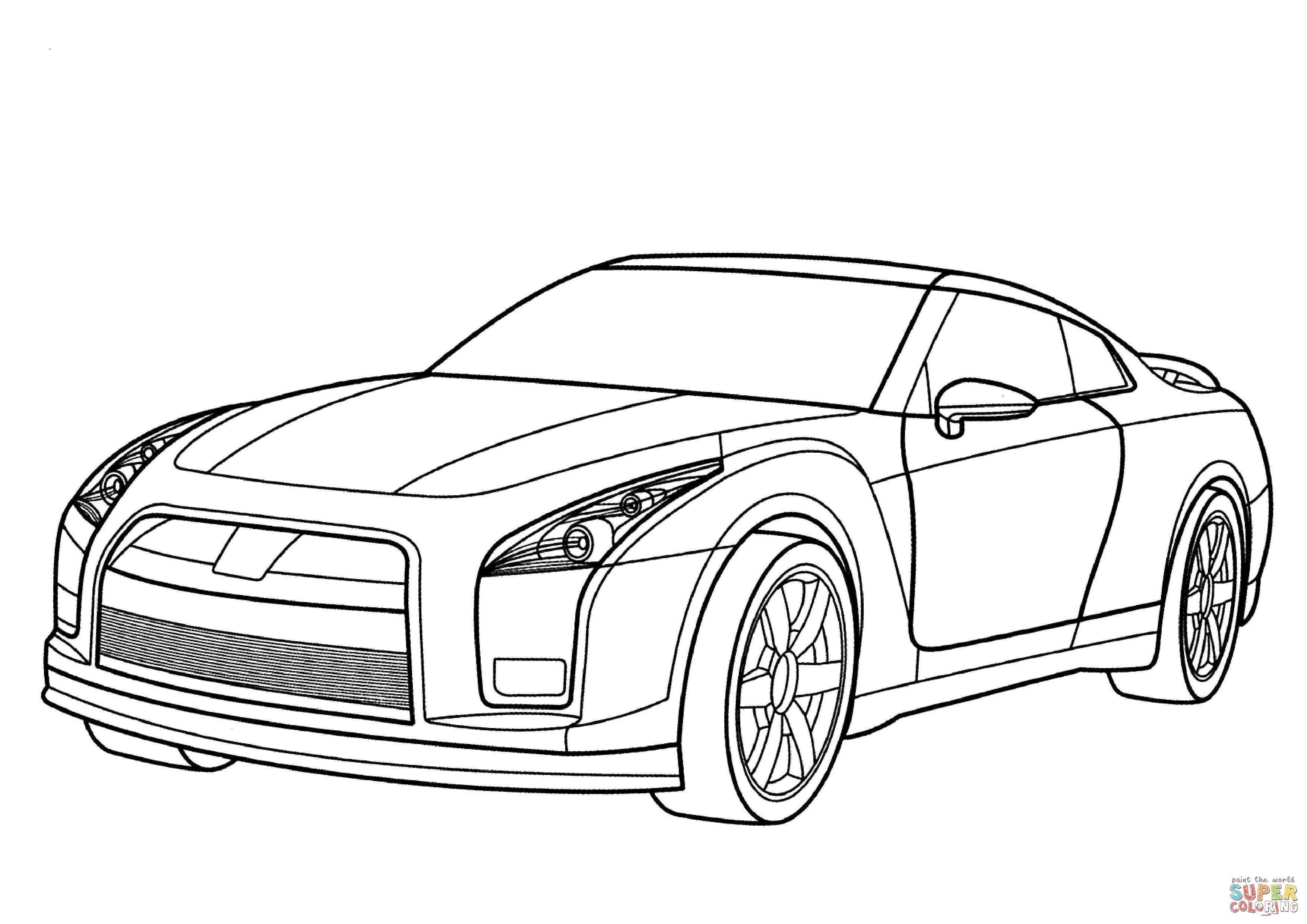 Nissan Gtr Kleurplaat Gratis Kleurplaten Printen Cars Coloring