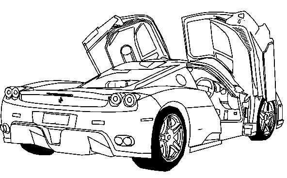 Deluxe Ferrari Sport Car Coloring Page Ferrari Car Coloring