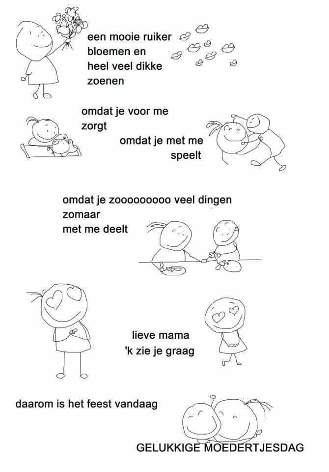 Gedicht Moederdag Met Afbeeldingen Moederdag Moederdagideeen