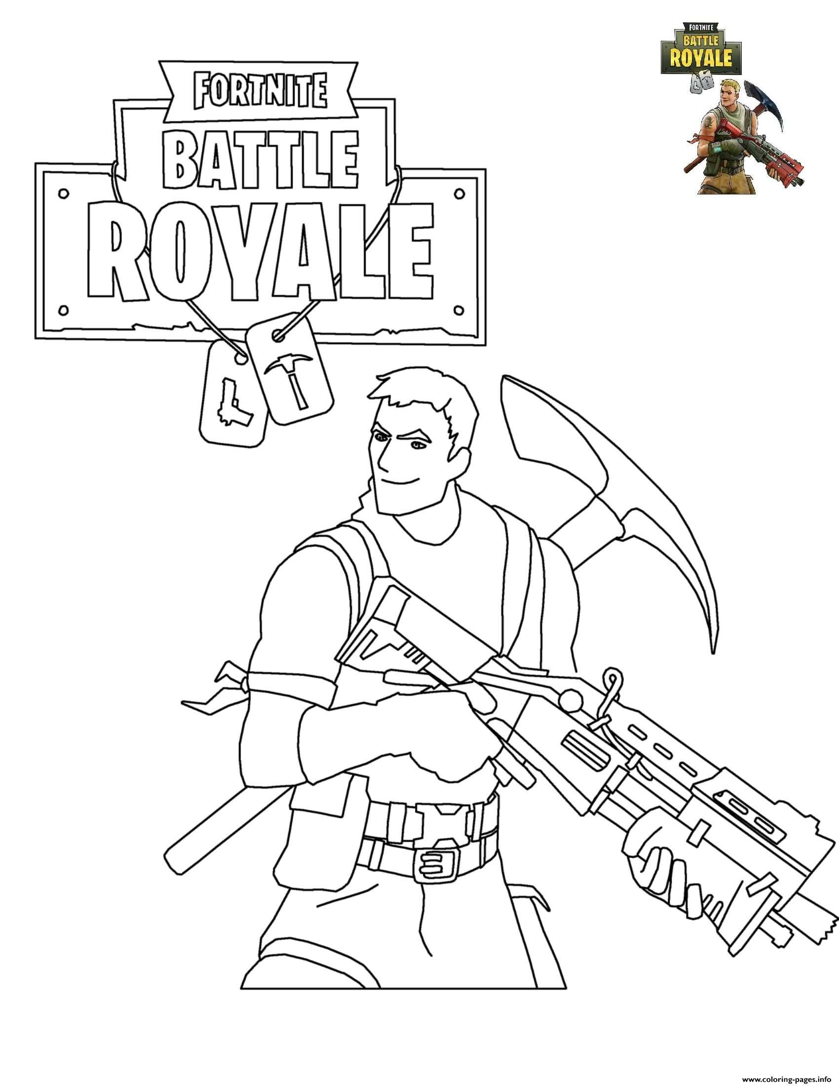 Print Fortnite Battle Royale Coloring Pages With Images