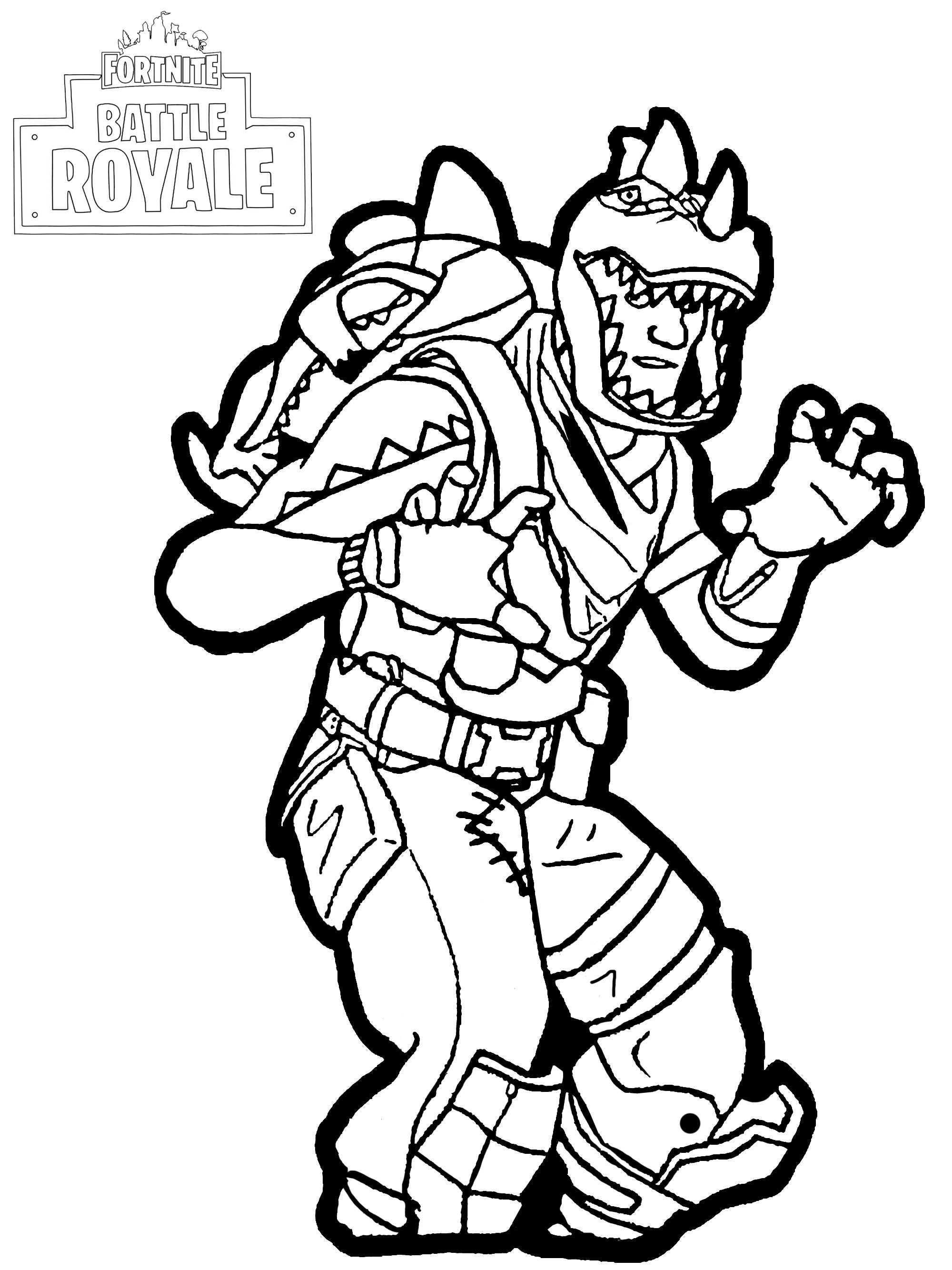 Fortnite Battle Royale Rex Fortnite Battle Royale Coloring