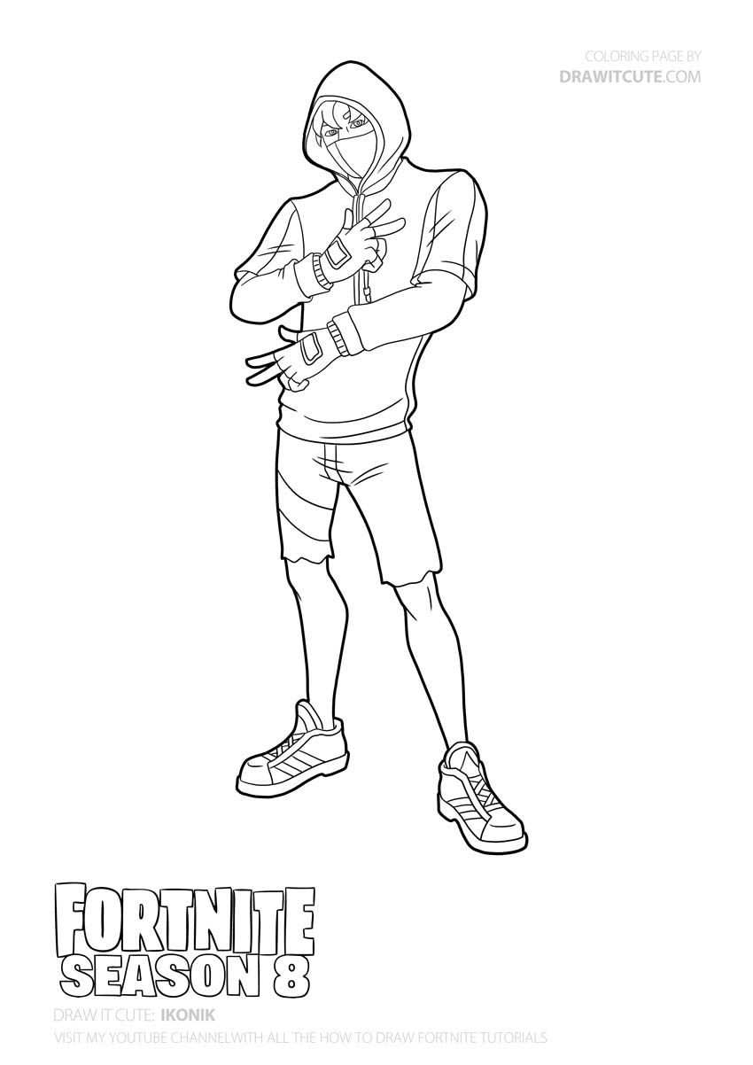How To Draw Ikonik Easy With Images Cute Coloring Pages