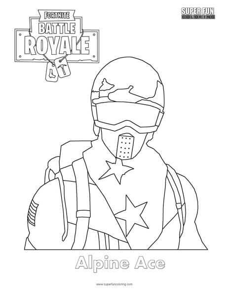 Alpine Ace Skin Fortnite Coloring Page With Images Cool