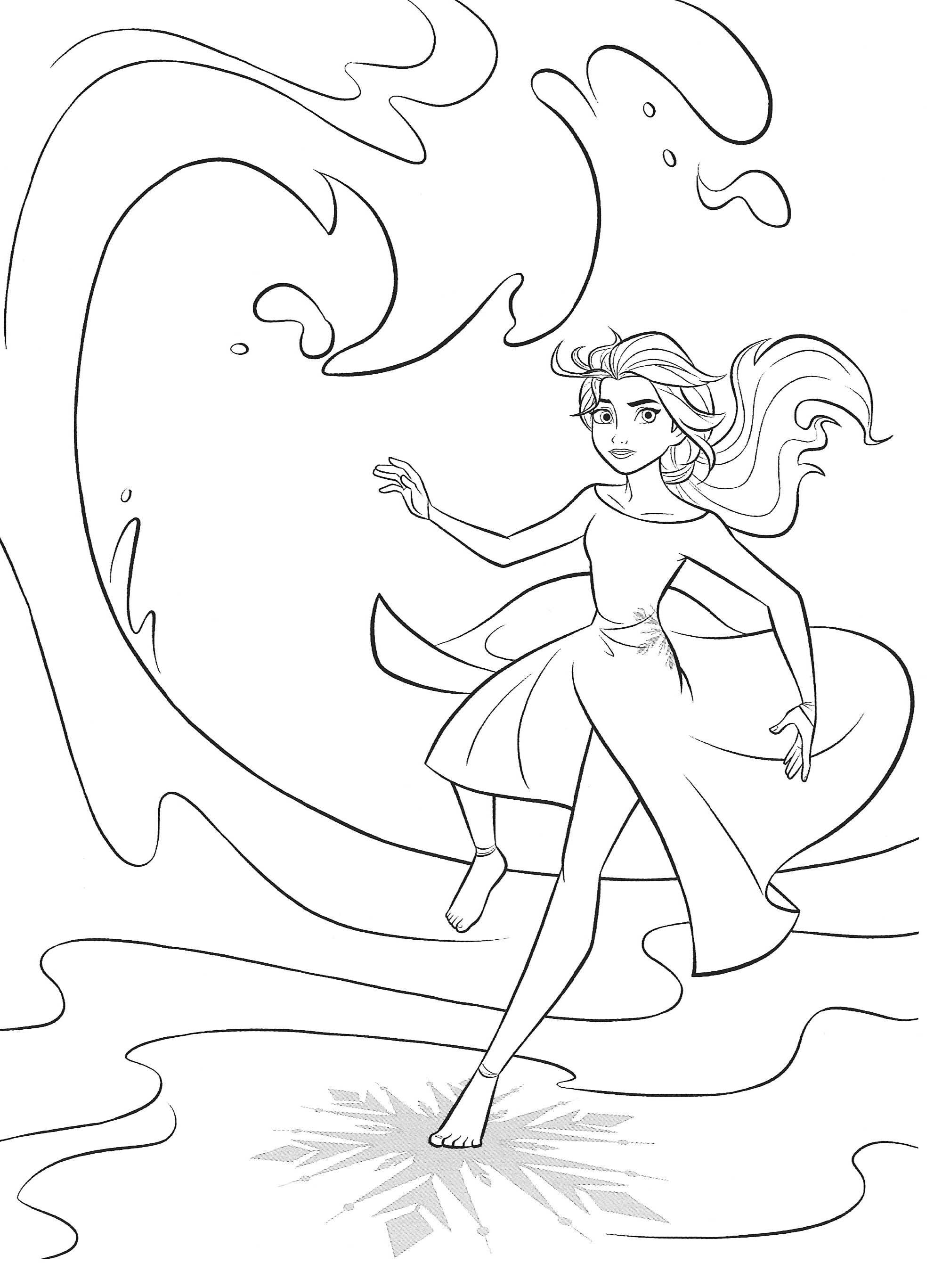 New Frozen 2 Coloring Pages With Elsa In 2020 With Images