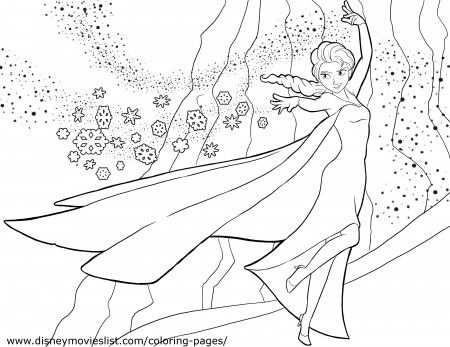 Disney Frozen Coloring Pages Elsa Coloring Pages