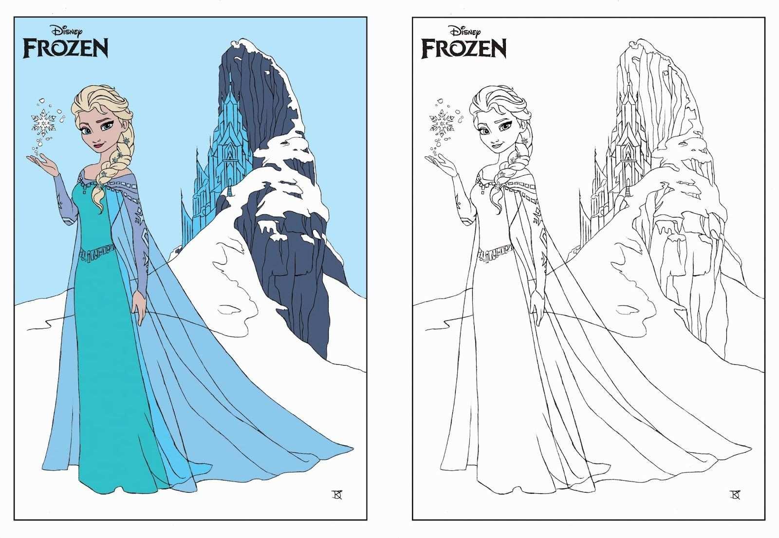 Frozn Coring Pigis Davey Kooy Disney Frozen Kleurplaat Frozen