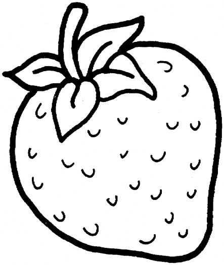 Kleurplaat Aardbei Fresas Dibujo Dibujos De Frutas Frutas Para
