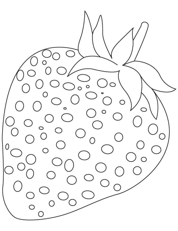 Strawberry Fruit Coloring Pages Kleurplaten Patronen Aardbeien