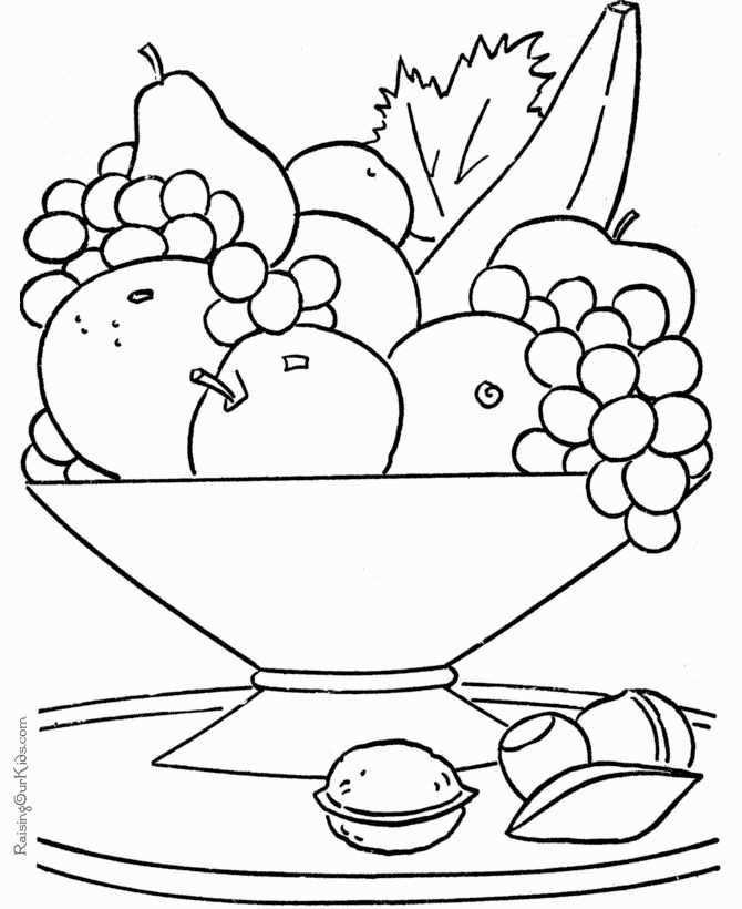 Coloring Pages Of Fruits In 2020 With Images Fruit Coloring