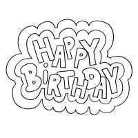 Happy Birthday Coloring Pages Met Afbeeldingen Digi Stempels