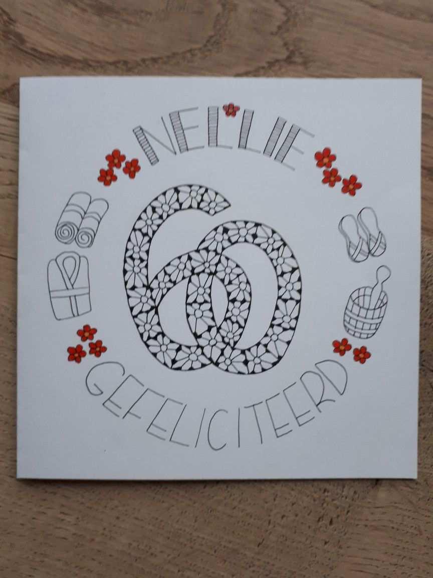 Jarig By Astrid 60 Jaar Verjaardag Birthday Verjaardagskaart