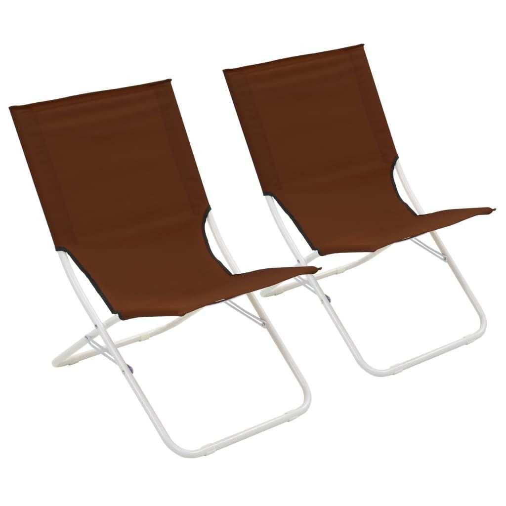 Strandstoelen Inklapbaar 2 St Bruin Strandstoelen Buitenstoelen