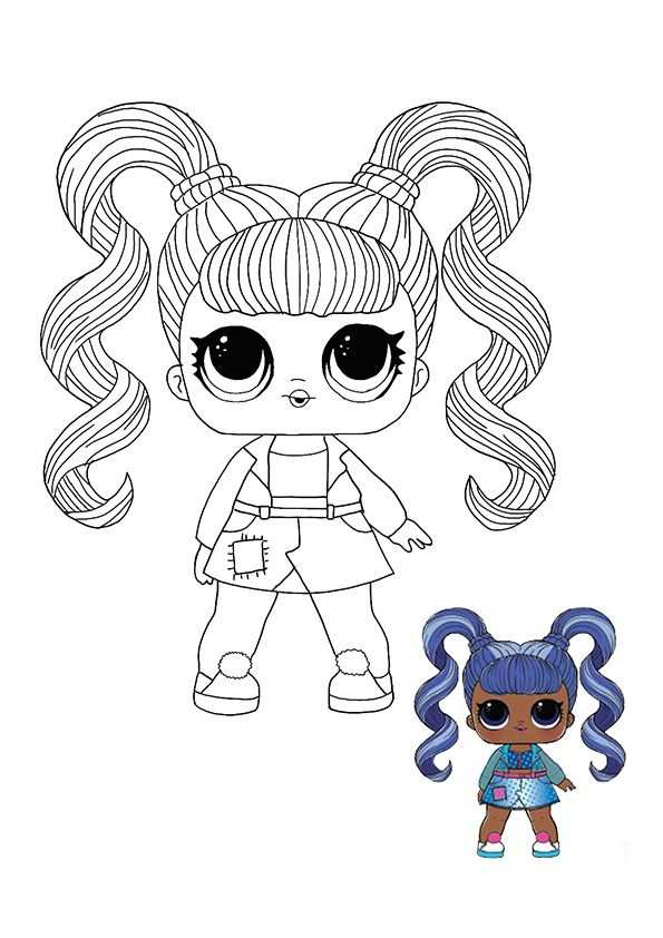 Lol Surprise Hairvibes Jelly Jam Coloring Page In 2020 Coloring