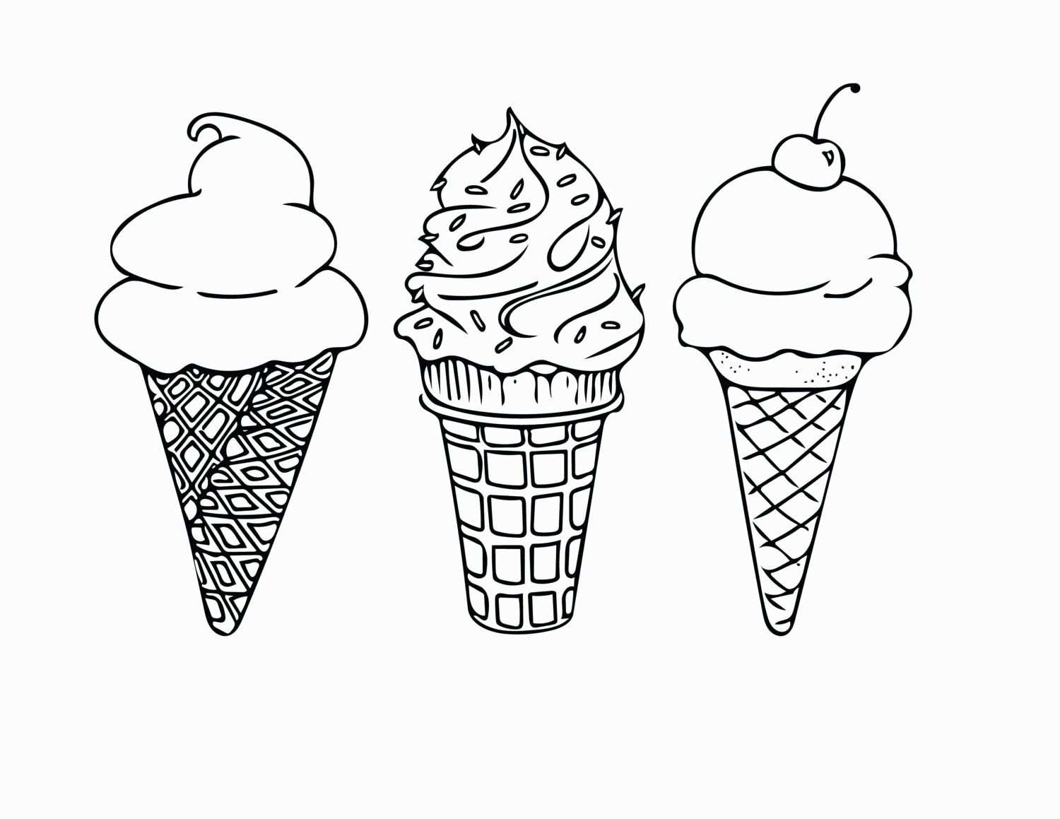 24 Coloring Page Ice Cream With Images Ice Cream Coloring
