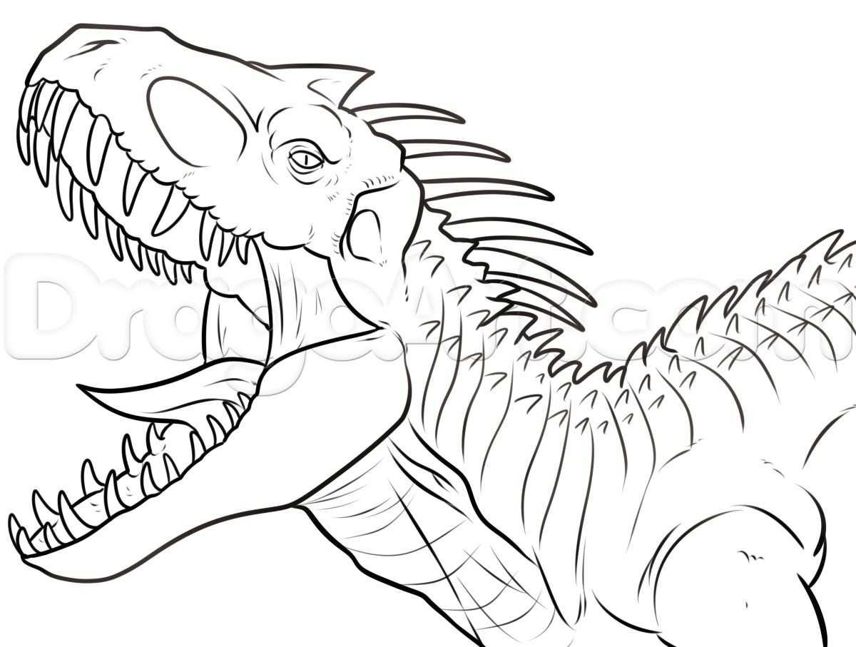 Indominus Rex Coloring Page Hybridindominusrexcoloringpage