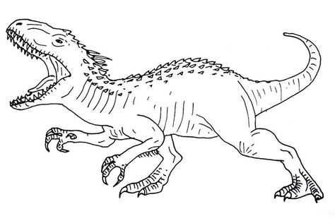 Jurassic World Coloring Pages Dinosaurus Kleurplaten