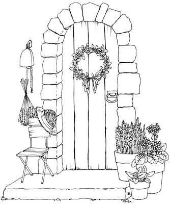Front Door With Images Drawings Art Drawings Coloring Pages