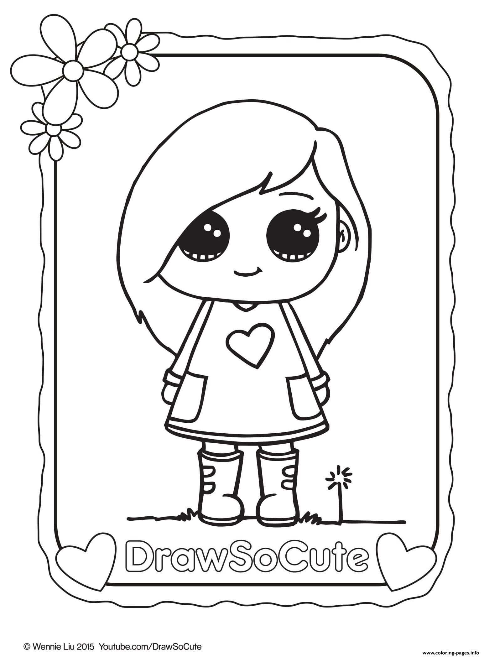 Sophie Draw So Cute Coloring Pages Printable Coloring Page