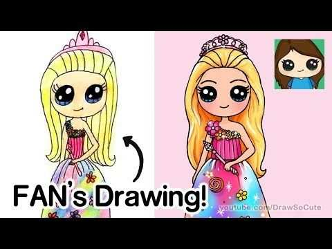 Draw So Cute Youtube With Images Kawaii Drawings Fan