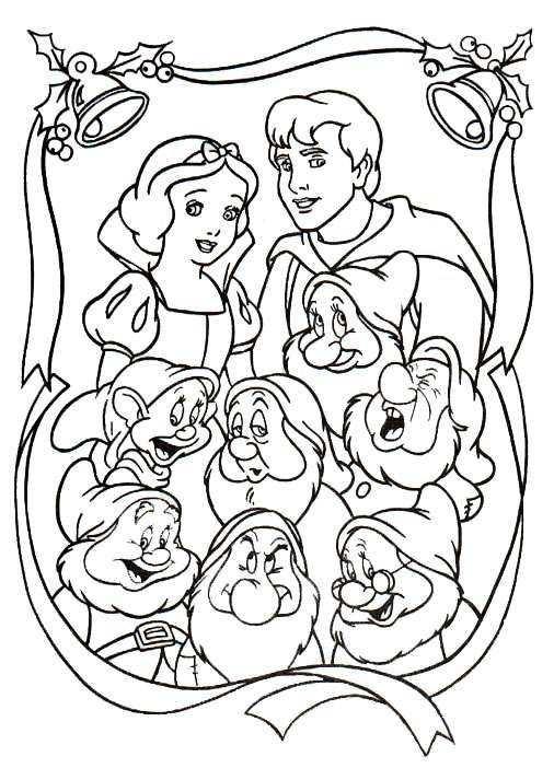 Kleurplaat Kerstmis Disney Kerstmis Disney Prinses