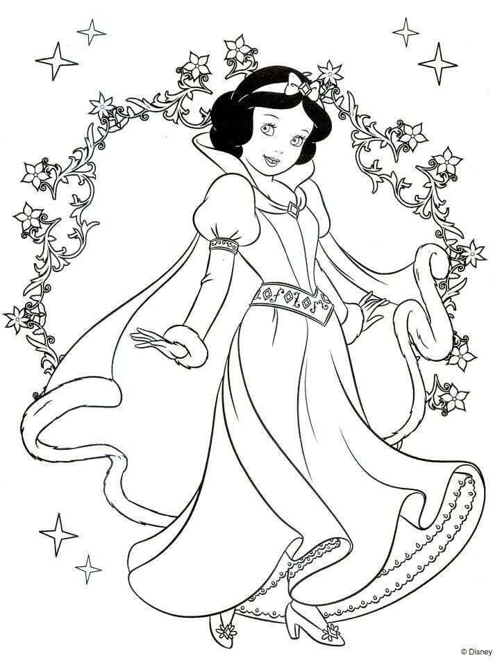 kerst kleurplaat disney prinses
