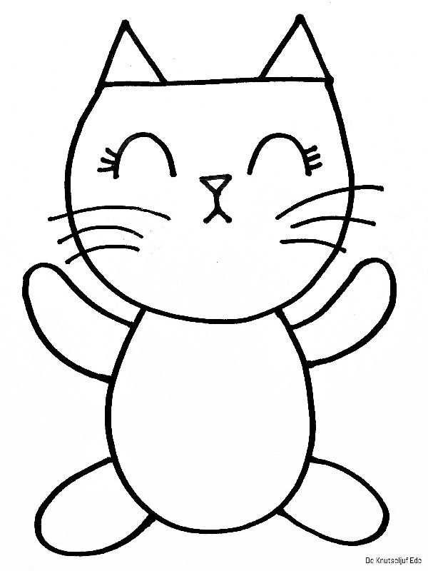 Kleurplaten Katten Met Afbeeldingen Katten Katten Tekening