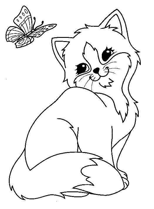 Kleurplaat Poezen En Katten Poezen En Katten Kleurplaten