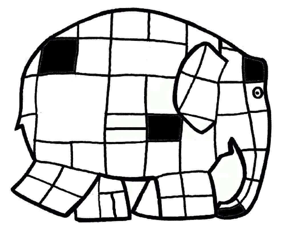Kleurplaat Elmer Mondriaan Met Afbeeldingen Mondriaan Kunst
