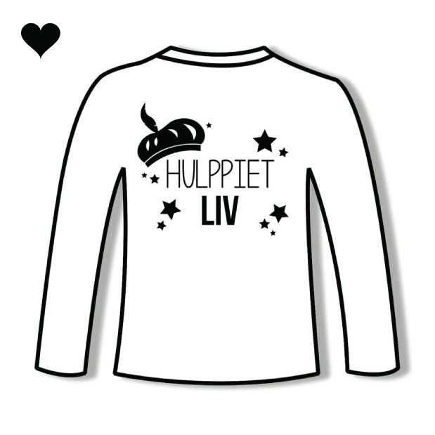Hulppiet T Shirt Wit Net Naam Jetjesenjobjes Nl Tip