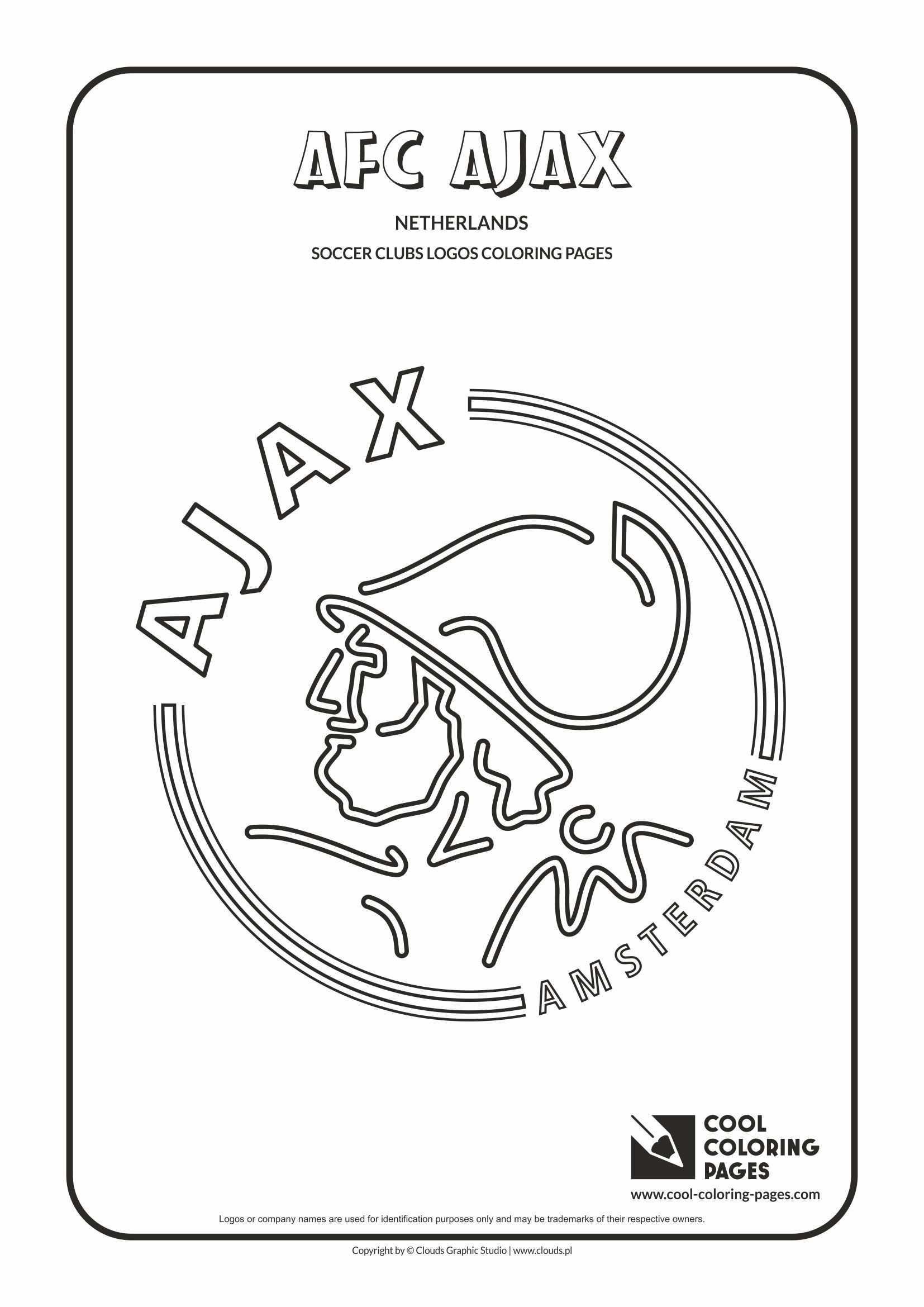 Afc Ajax Amsterdam Logo Coloring Page Kleurplaten Boek Vouwen