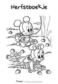 Werkblad Diverse Herfstboekje Met Afbeeldingen Disney