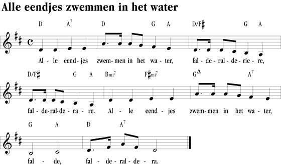 Afbeeldingsresultaat Voor Alle Eendjes Zwemmen In Het Water Tekst