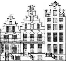 kleurplaat amsterdamse huisjes