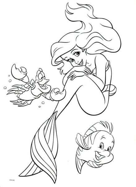 Princess Ariel Little Mermaid Coloring Pages Hellocoloring Com