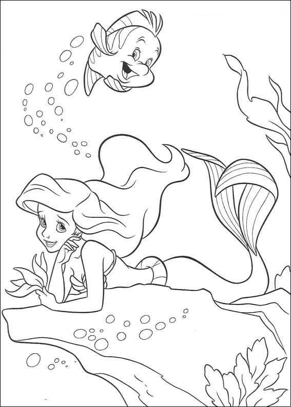 Coloring Page Ariel The Little Mermaid Ariel The Little Mermaid