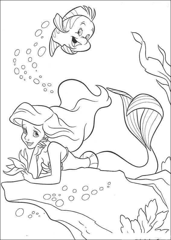 Kleurplaten De Kleine Zeemeermin 7 Com Imagens Sereias Para