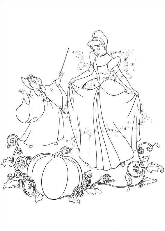 Kleurplaat Assepoester Assepoester Danst Met De Prins Prinses