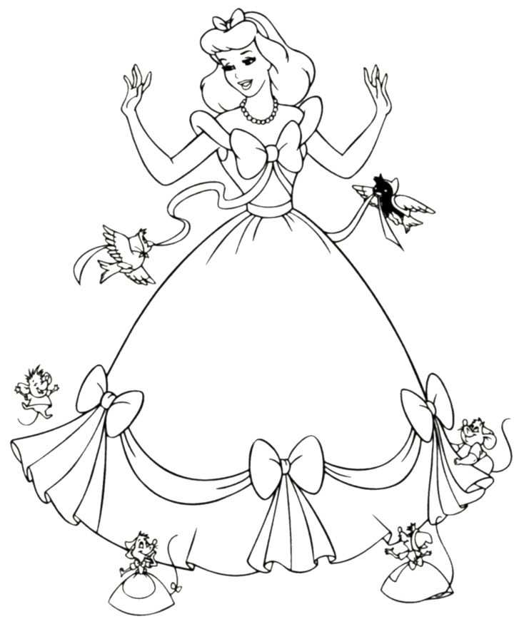 Free Printable Cinderella Coloring Pages For Kids Kleurplaten