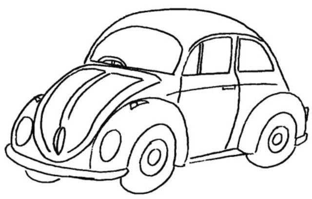 Kleurplaat Auto Kleurplaten Kleurboek Kinderkunst