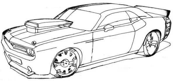 Free Muscle Cars Coloring Pages Auto Tekeningen Auto S En